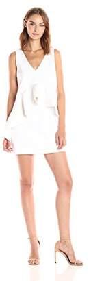 KENDALL + KYLIE Women's Ruffle Double V Dress