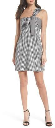 Sam Edelman One-Shoulder Gingham Dress