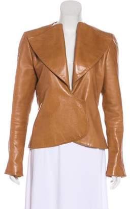 Fendi Leather Snap Jacket