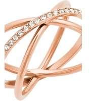 Michael Kors Jewellery Ladies PVD rose plating Size O Brilliance Ring MKJ5533791506