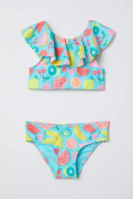 H&M Ruffled Bikini - Turquoise