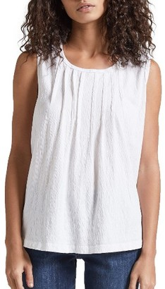 Women's Current/elliott The Pintuck Muscle Tee $118 thestylecure.com