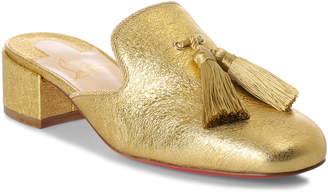 Christian Louboutin Barry 35 metallic gold leather mules