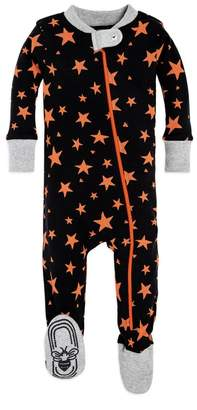 Burt's Bees Shooting Star Bee Baby Organic Zip Up Footed Halloween Pajamas