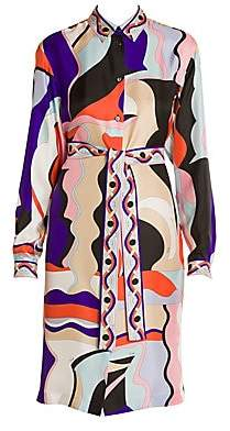 Emilio Pucci Women's Vallauris Silk Twill Shirtdress