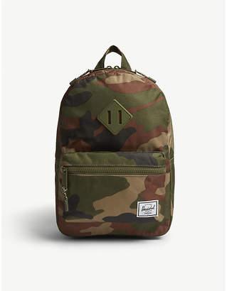 Herschel Heritage woodland camouflage canvas backpack