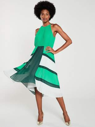 8b4cd85ed7e Ted Baker Nellina Dip Hem Pleated Dress - Bright Green