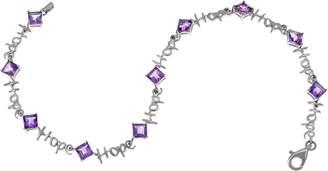 Words of Affirmation Gemstone Bracelet, Sterling Silver