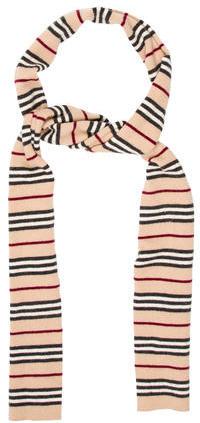 Burberry Burberry Striped Wool Scarf