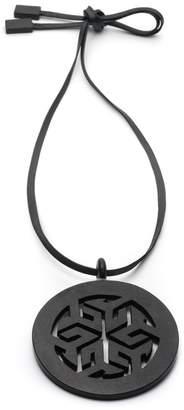 Natori Josie Horn Round Necklace