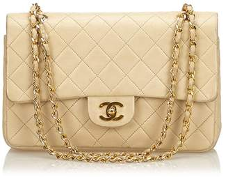 Chanel Vintage Medium Lambskin Double Flap Chain Bag