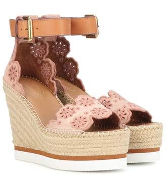 See by Chloe Suede wedge sandals