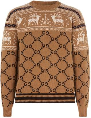 Gucci Reindeer GG Knit Sweater