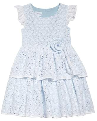Frais Flutter Sleeve Tiered Eyelet Dress