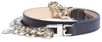 Karen Millen Chain Detail Leather Belt