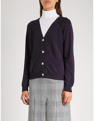 Claudie Pierlot Marple crystal-button wool cardigan