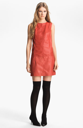 Nordstrom Miss Wu Leather Shift Dress Exclusive)