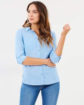Dorothy Perkins Chambray Silver Button Shirt