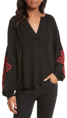 Women's Rebecca Minkoff Bethany Embroidered Blouse $168 thestylecure.com