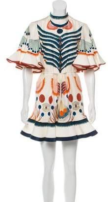 Chloé 2018 Silk Printed Mini Dress
