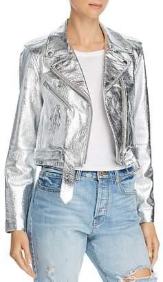 Veda Baby Jane Metallic Leather Moto Jacket - 100% Exclusive