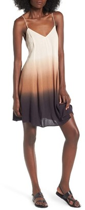 Women's Lush Dip Dye Gauze Dress $45 thestylecure.com