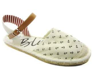 BLUE SUEDE SHOES Women's espadrille GARR BOAT closed Toe Casual cute and classy - print canvas Wedge Sandals