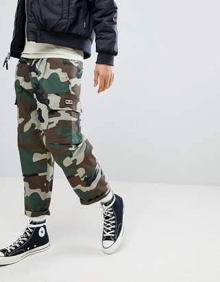 Obey Fubar Camo Cargo Pants In Loose Fit