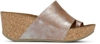 Donald J Pliner GINIE, Metallic Soft Leather Wedge Sandal