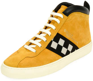 Bally Men's Vita Retro High-Top Sneakers, Yellow