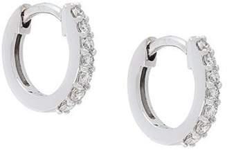 Astley Clarke 14kt gold Mini Halo diamond hoop earrings