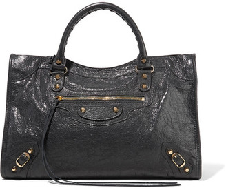 Balenciaga - Classic City Textured-leather Tote - Charcoal $1,950 thestylecure.com
