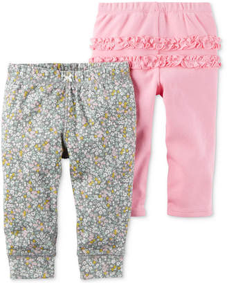 Carter's 2-Pk. Cotton Jogger Pants, Baby Girls (0-24 months) $11.98 thestylecure.com