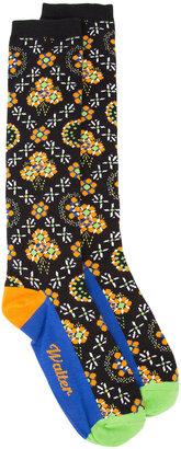 Walter Van Beirendonck floral border print socks $79 thestylecure.com