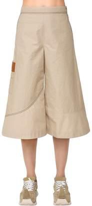 Loewe High Waist Cotton Cropped Pants