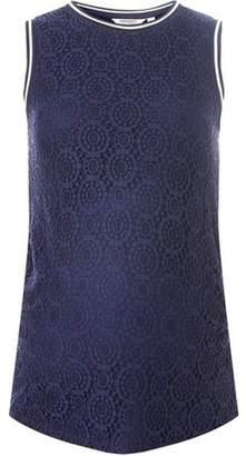 Dorothy Perkins Womens **Maternity Navy Sports Ribbed Lace Trim Shell Top