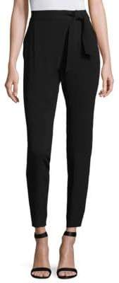 St. John Satin Crepe Cropped Pants
