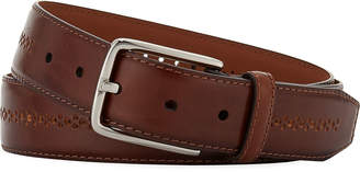 Neiman Marcus Men's Burnish Center-Brogue Leather Belt