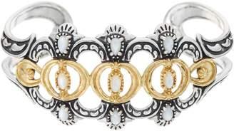 American West Luna Gemstone Sterling Silver Brass Cuff Bracelet