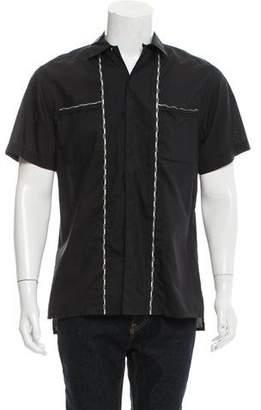 Lanvin Silk-Blend Short Sleeve Shirt w/ Tags