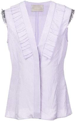 Jason Wu Collection sleeveless gingham checked blouse