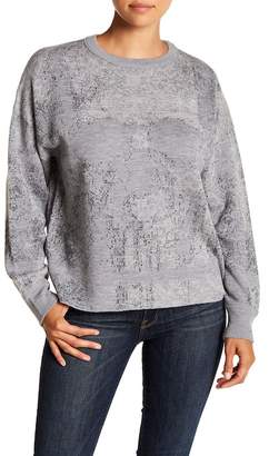 SKULL CASHMERE Rose Skull Print Wool Sweater