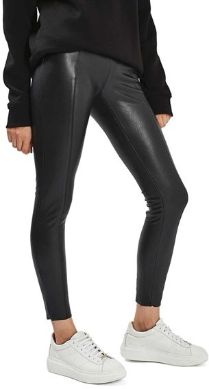 TopshopPetite Women's Topshop Percy Faux Leather Skinny Pants