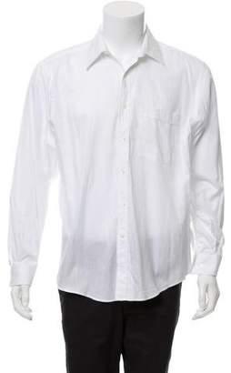 Valentino Woven Button-Up Shirt