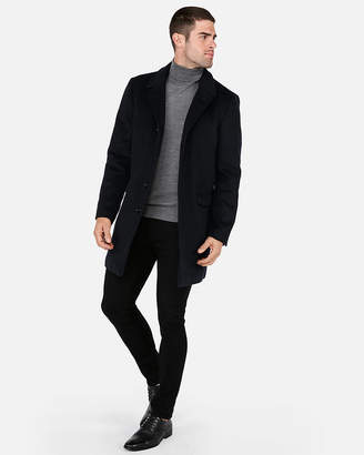 Express Recycled Wool Oversized Deconstructed Topcoat