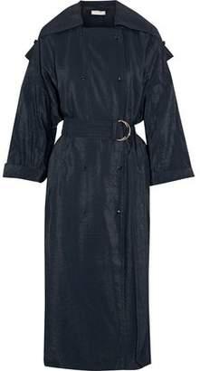 Nina Ricci Crinkled-Shell Trench Coat