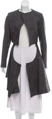 Saint Laurent High-Low Wool Jacket w/ Tags