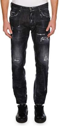 DSQUARED2 Twin Peaks Wash Skater Jean