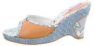 Emilio Pucci Floral Print Slide Sandals