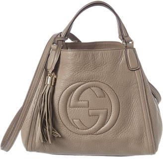 Gucci Grey Leather Soho Bag